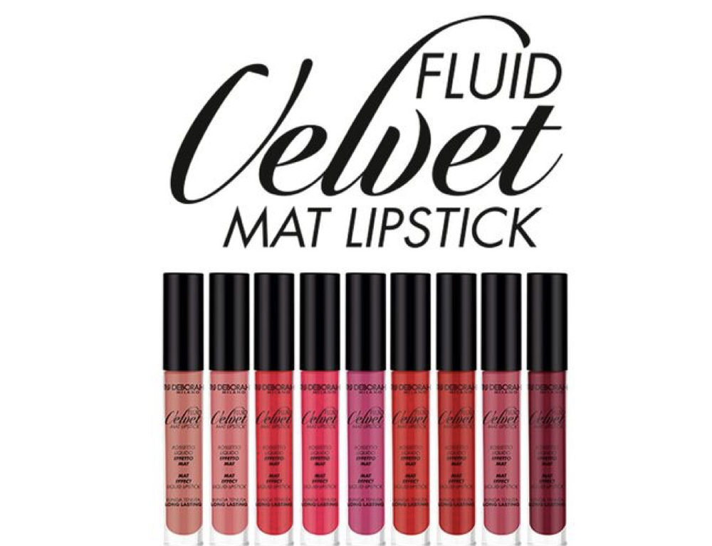 Rossetto Fluid Velvet mat lipstick Deborah Milano