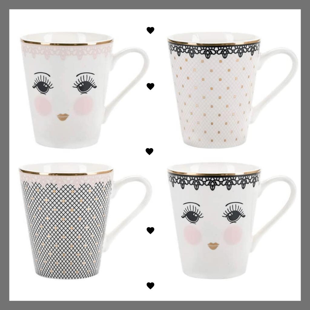 Miss Etoile le tazze eleganti e raffinate
